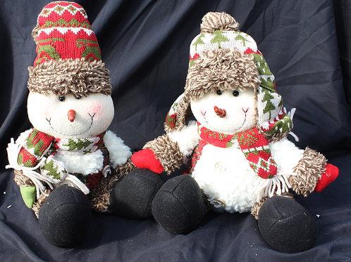 Snowmen Couple in Toques