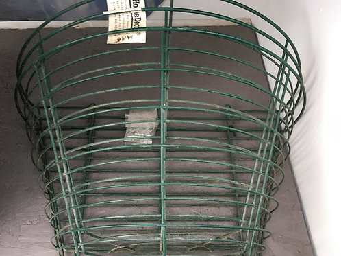 Green metal wall basket
