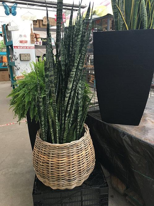 Pear-shaped Wicker Basket - Large