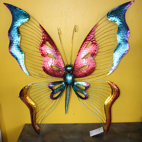 Colourful Metal Butterfly Wall Decor