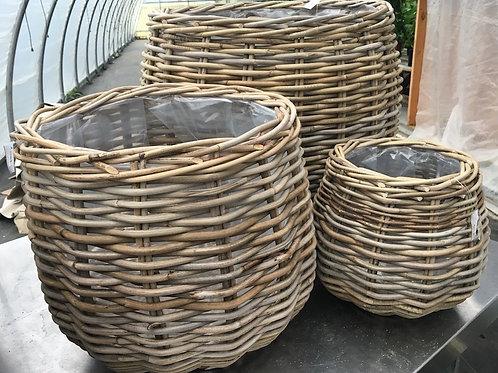 Pear-shaped Wicker Basket - Medium
