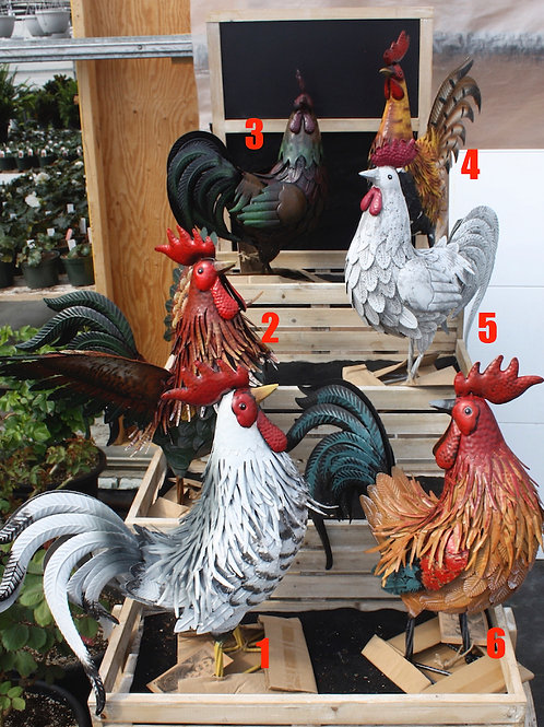 Assorted Iron Roosters