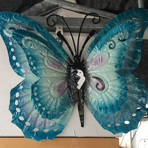 Blue Metal Butterfly