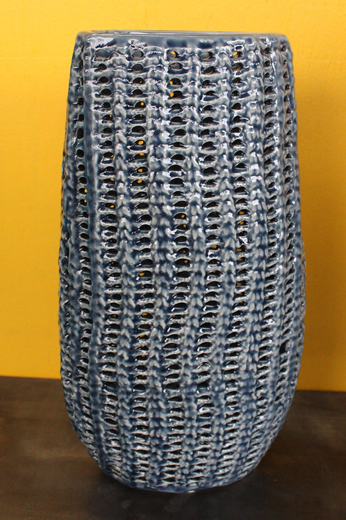 Blue Corn Ceramic Vase - medium