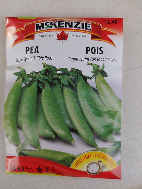 McKenzie Pea (Sugar Sprint edible pod) Seeds