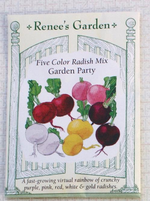 Renee's Garden Radish - Five Color Mix - Garden Party