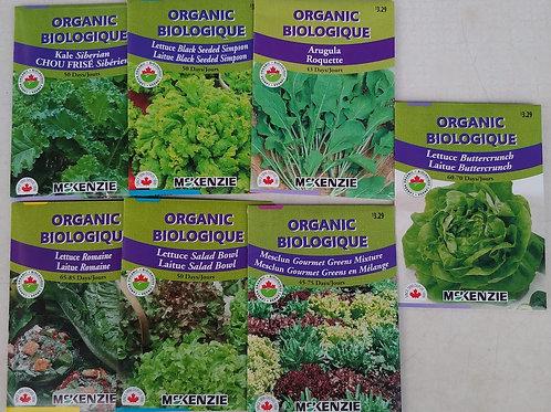 McKenzie Organic Kale and Lettuce Seeds