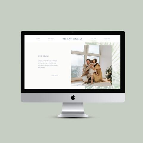 McKay Homes homebuilder website design, freelance graphic design