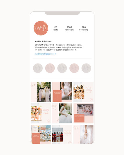 freelance graphic social media content, wedding branding