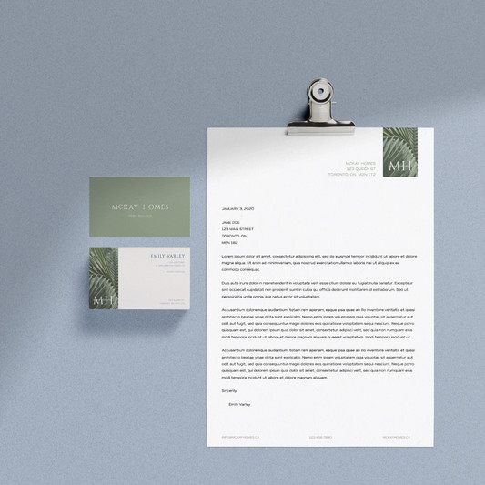 2-EV-McKay Homes homebuilder stationery suite design