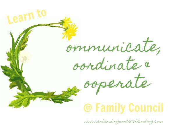 Coordinate & Cooperate @ Family Council(1)