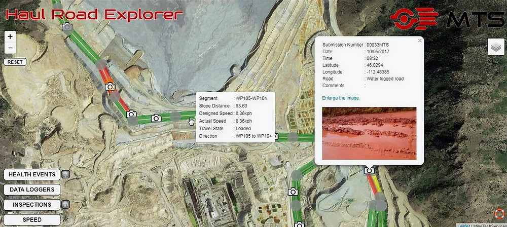 Haul Road Explorer: smart haul road management software from MTS.