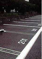 駐車場ライン塗装後