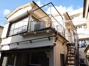 アパート外部塗装後1