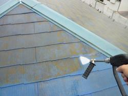 大屋根コロニアルの塗装