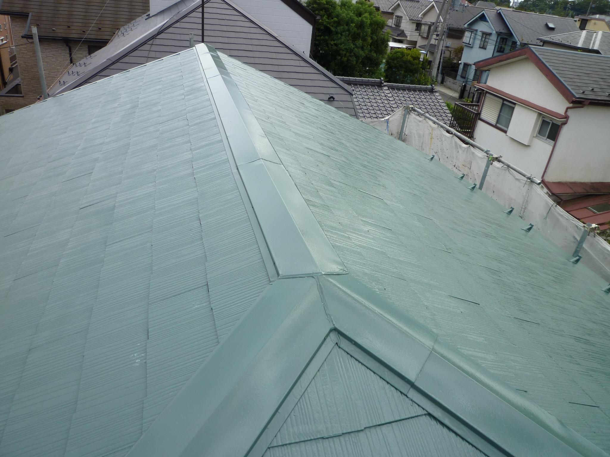 大屋根コロニアルの塗装工程