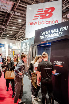 Flashmat Message Booth New Balance event