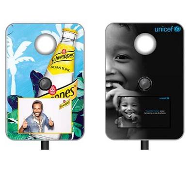 Flashmat Photo Booth with custom branded vinyl sticker