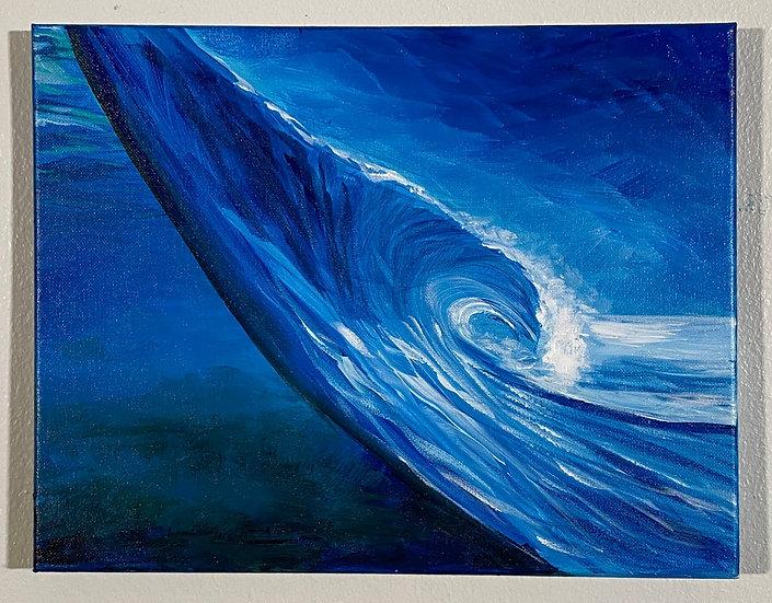 """""""Blue Half&Half Wave"""""""