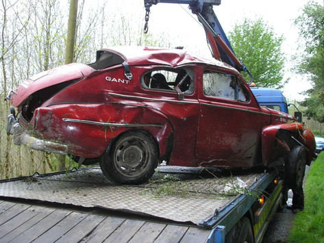 Volvo was sold to a French rally driver a year later who wrote the car off after somersaulting down a ravine in the Emerald isle rally