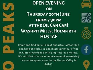 Club Open Evening - June 20th