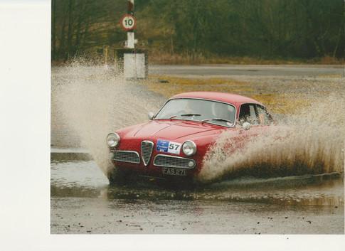 Tour of Cheshire Historic Rally 2011 Alfa Romeo Guilia 1600 Sprint coupe