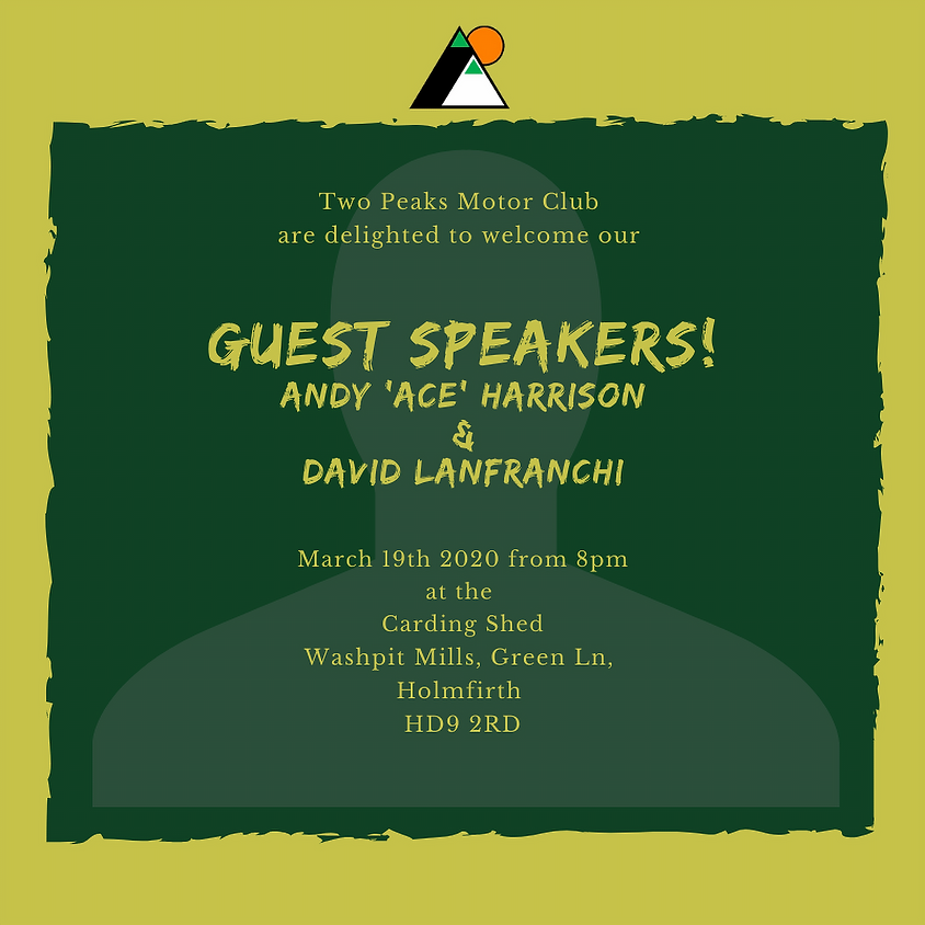 **CANCELLED** March 2020 Club Meeting - Guest Speakers