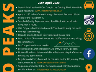 IK Classics 'Tour of the Peaks' now POSTPONED for 2020!