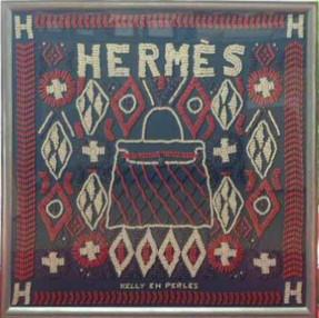 HERMES(エルメス)スカーフ 額に入れました ケリー・アン・ペルル