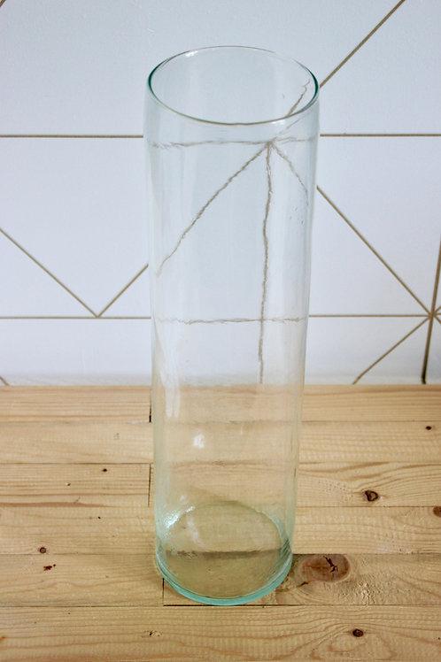 Vase cylindrique bleu