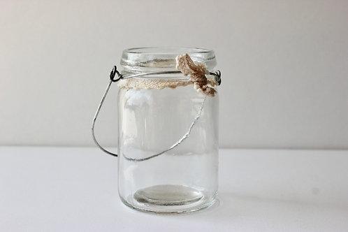 Pot en verre à suspendre