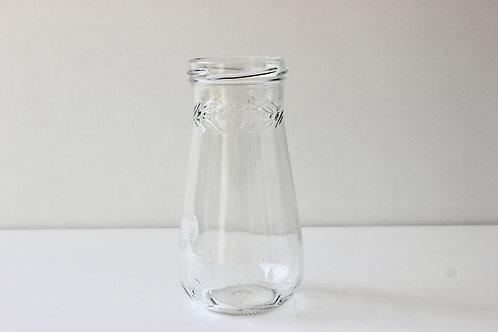 Pot en verre avec détails