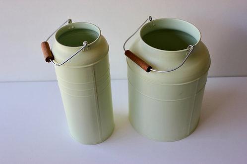 Pots extérieur vert d'eau