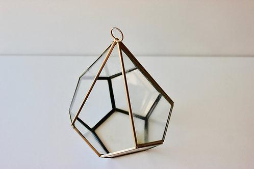 Terrarium en verre / or