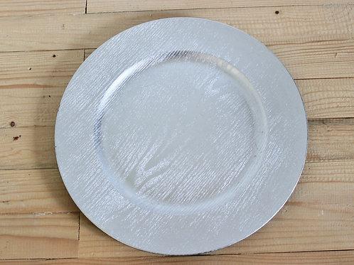 Assiette argentée