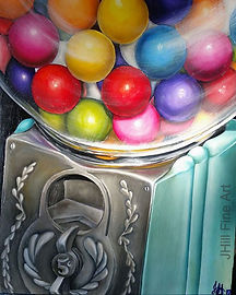 oil on canvas board_#gumballmachine #oil