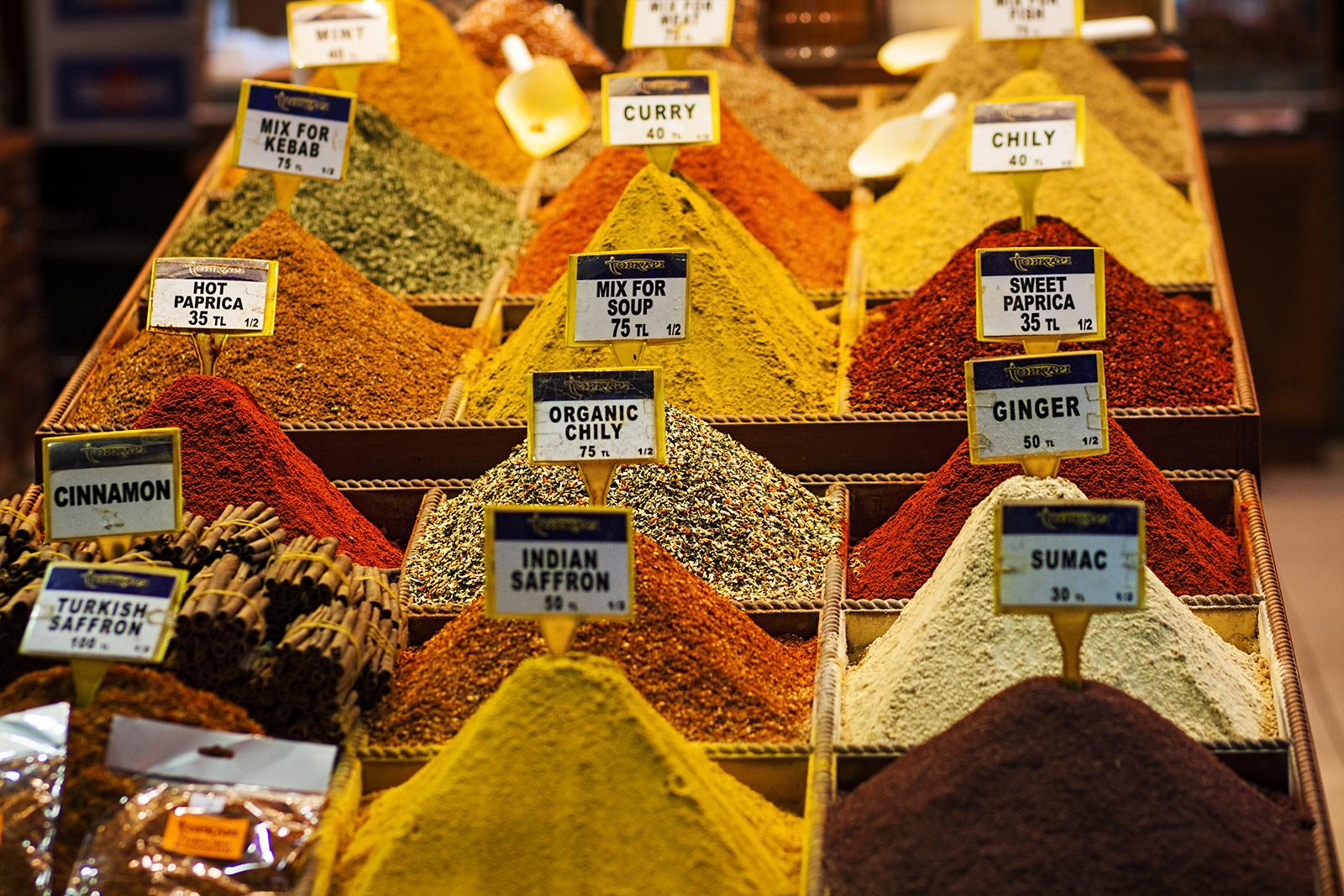 Mercado egipcio de especias