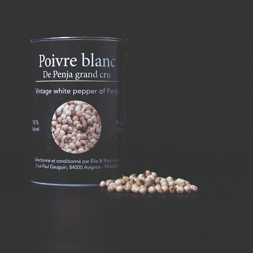 Poivre Blanc de Penja Grand Cru Emballage recyclable 60 gr