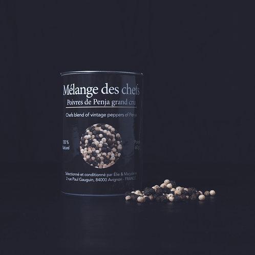 Mélange des chefs Poivre Blanc & Noir Emballage Recyclable 60g