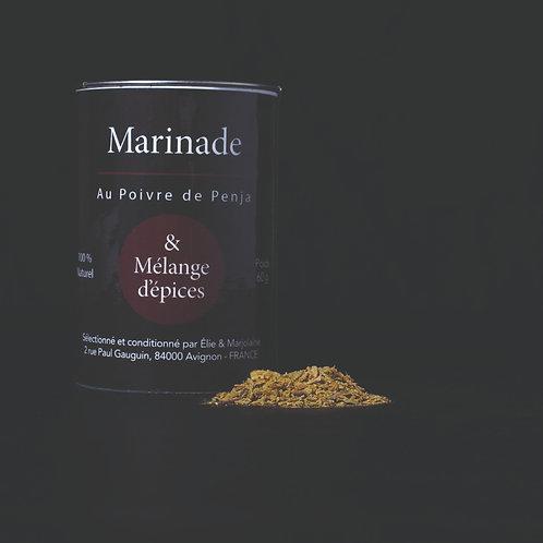 Marinade au Poivre de Penja & Mélange d'épices  Emballage recyclable 60 gr
