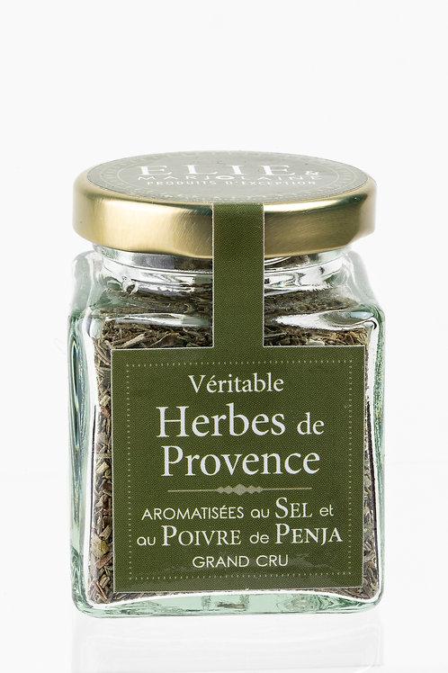 Véritable herbes de Provence aromatisées au sel et poivre de Penja