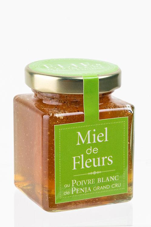 Flacon 120 g de Miel de Fleurs au Poivre Blanc de Penja Grand cru
