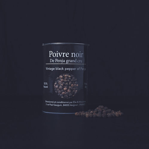 Poivre noir de Penja Grand cru Emballage  recyclable 60 gr