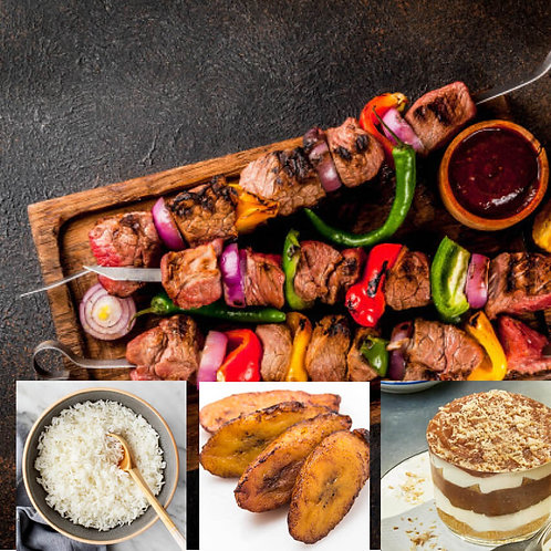 Gourmand : Plat + Accompagnement +Dessert