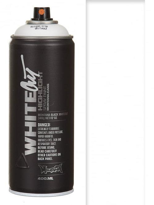WHITEOUT. (HIGHLIGHT WHITE). MONTANA BLACK 400ml