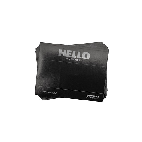 MONTANA 'HELLO MY NAME IS' STICKER PACK. BLACK