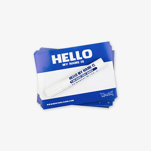 MONTANA 'HELLO MY NAME IS' STICKER PACK. BLUE