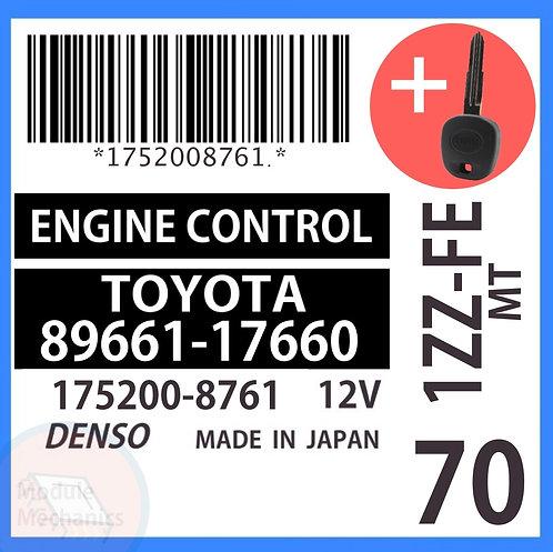 89661-17660 OEM ECU W/ Programmed Master Key Toyota MR2