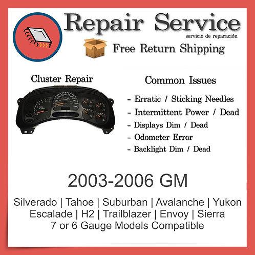 2003-2006 GM Gauge Cluster Repair Service