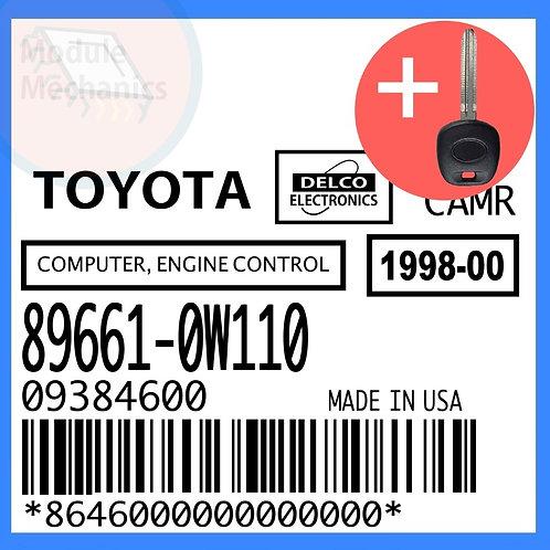 89661-0W110 W/ Programmed Master Key Toyota Camry
